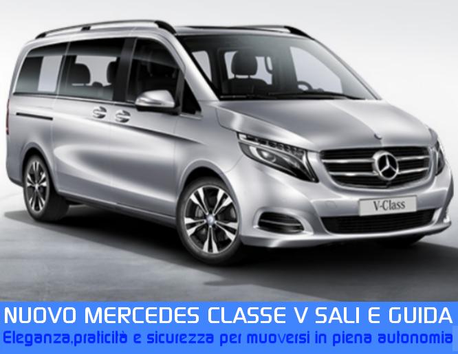 Mercedes Classe V sali e guida